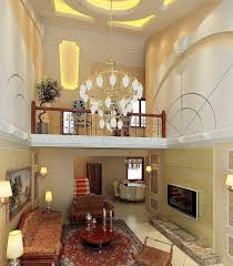 DecorationsBreathtaking High Ceiling Lighting Chandelier For Luxurious Living Room With Round Wooden Coffee Table
