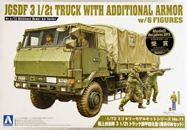 Aoshima 12086 JGSDF Japan Ground Self Defence 3 1/2 Ton Truck With ...