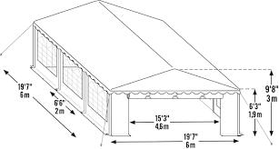 Shelterlogic Shed In A Box 6x6 by Amazon Com Shelterlogic 25921 Party Tent U0026 Enclosure Kit 20x20