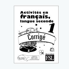 Activités En Français Langue Seconde 1 FSL