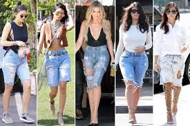 the bermuda knee length denim shorts trend the jeans blog