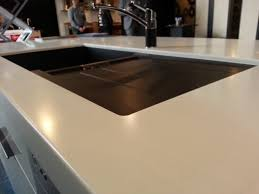 Close Up Of A Laminex Solid Surface Stratus Bench Top My Dream Kitchen Designed And Manufactured