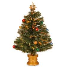 Fiber Optic Christmas Trees On Sale by National Tree Company 32 In Silver Fiber Optic Fireworks Ornament