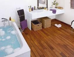 Elegant And Cozy Hardwood Floors In The Bathroom Designs