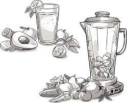 Blender Smoothie Healthy Diet Vector Art Illustration