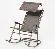 Bliss Hammocks Foldable Rocking Chair With Headrest And Canopy — QVC.com