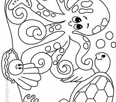 Sea Creature Coloring Pages Free Printable Animals Book For Kids