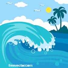 Ocean waves clip art vectors free vector art