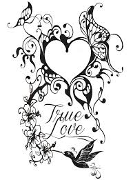 Tattoo Heart More Coloring Pages
