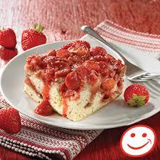 recette de cuisine gateau gâteau renversé aux fraises et à la rhubarbe metro