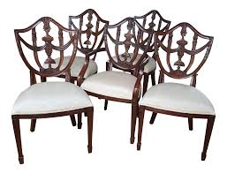 Hepplewhite Maitland Smith Dining Chairs - Set Of 5 4 Hepplewhite Style Mahogany Yellow Floral Upholstered Ding Chairs Style Ding Table And Chairs Pair George Iii Mahogany Armchairs Antique Set Of 8 English Georgian 12 19th Century Elegant Mellow Edwardian Design Antiques World 79 Off Wood Hogan Side Chair Eight Late 18th Of