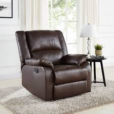 Living Room Chairs And Recliners Walmart by Mainstays Brown Recliner Walmart Com