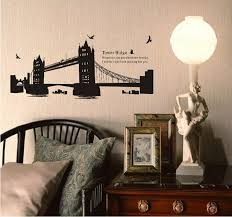 London Gemini Bridge Leading DIY Wall Stickers Waterproof Removable Living Room Poster Bedroom Decoration Home Decor Spectacles In From