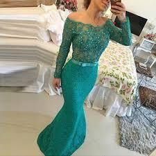 online get cheap green long sleeve lace prom dress aliexpress com