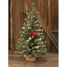 Snowy German Twig 24 Artificial Christmas Tree With Cardinal