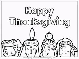 Thanksgiving Coloring Page For Kids Toddlers