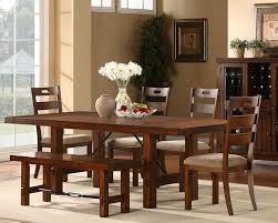 Dining Room Set With Bench Black
