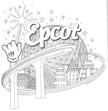 Epcot Coloring Pages Disney World For Kids