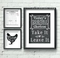 Etsy Kitchen Wall Art Chic Design For Plus Decor Chop It Like S