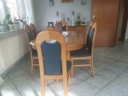 esszimmer tisch mit 6 stühlen erle massiv