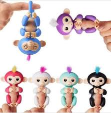 6 Color Fingerlings Monkeys Unicorn Sloth Toys Interactive Baby Smart Finger Toy Induction