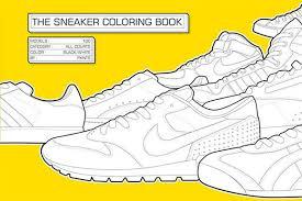 Sneaker Coloring Book Cover