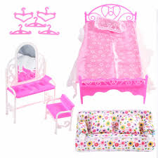 Doll Accessories Mini Furniture Flower Sofa Bed Hangers Super Combination  Pretend Play Living Room Toys For Dolls Girl Gifts Boy Baby Doll  Accessories ...