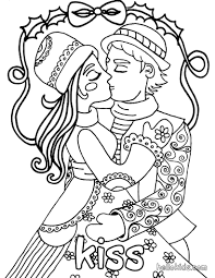 Flying Cupid Kiss Coloring Page