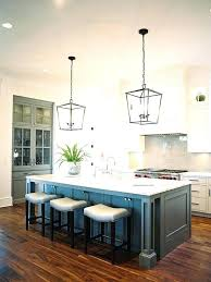 lights kitchen island view in gallery contemporary kitchen with