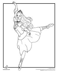 Barbie Coloring Pages 12 Dancing Princesses Page Cartoon Jr