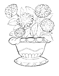 Free Printable Coloring Pages For Kids Flowers Pot Plants Ghost