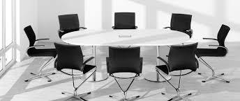 bureau paysager table de réunion ovale table