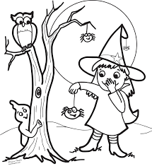 Cute Halloween Witch Coloring Pages For Kids
