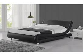 Black Leather Headboard Double by Madrid Double Bed Black Buy Beds Online And Bedroom Furniture