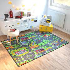 tapis de jeux voitures tapis de jeu circuit voiture ville 145 x 200 cm decoweb