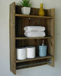 Bathroom Shelving For Towels Wood Towel Bars Rustic On Pallet Modern Home