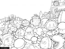 Plants Vs Zombies Coloring Pages For Kids Printable