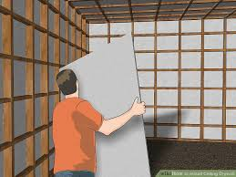 hanging drywall on ceiling tips how to install ceiling drywall 14 steps with pictures wikihow