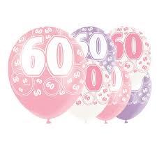 Pink Glitz Age 60 Happy Birthday 12 Inch