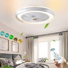 yunshun led fan deckenle dimmbar deckenventilator mit