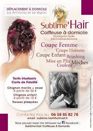 sublime hair coiffeuse à domicile