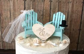 Luxury Beach Theme Wedding Cake Toppers 10