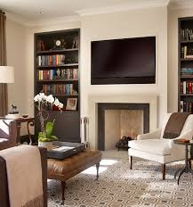 Living Room With Fireplace And Bookshelves by Best 25 Tv Above Fireplace Ideas On Pinterest Tv Above Mantle