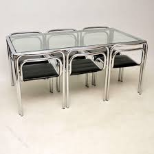 Antiques Atlas - Chrome Dining Table & Chairs By Rodney Kinsman