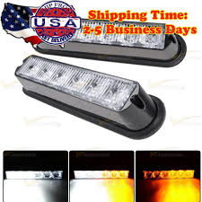 2X White/Amber 6-LED 16 Flashing Car Truck Warning Hazard Emergency ... Wolo Emergency Strobe Lights Hide Away Light Kits Lamphus Sorblast 4w Led Vehicle Warning For Sale In Springfield Ma Springfield Auto Truck 6pc 36led White Red Surface Mount Grille Wireless Bars Deck Dash Trucks Elegant 1 Kit Led Flashing Car Truck Ijdmtoy Ultra Slim Cree High Power Demo Lighting Beneficial For Plow 12v Auto Best Price Styling