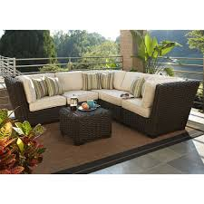 allen roth blaney 6 piece patio sectional conversation set 2