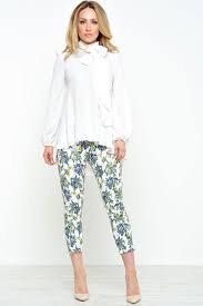 john zack julia bow blouse in cream iclothing