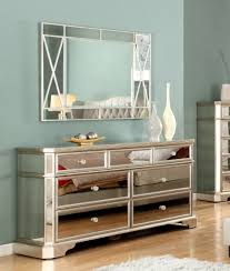 Vanity Mirror Dresser Set by Nightstand Claudette S On Gold Mirrored Nightstand Side Tables
