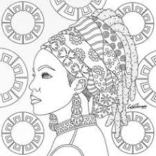 Tribal Queen Coloring Page Color Therapy App