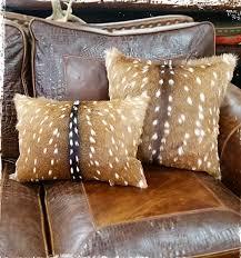 Amos Ranch Axis Deer Hide Pillows
